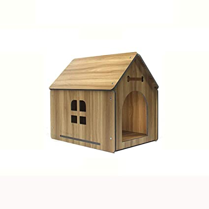 Lijin light Madera de la Trompeta Perrera de Madera Maciza Perros Grandes y medianos Perros casa