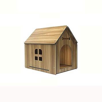 Lijin light Gran Perrera de Madera Grande y Mediano Perros pequeños casa de Perro al Aire Libre casa de Madera Chalet de Invierno casa de Madera Perrera ...