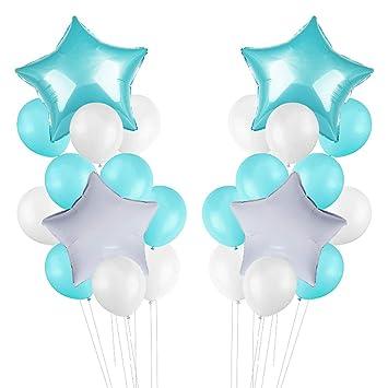 24 piezas de globos de color puro y pentagrama globos de ...