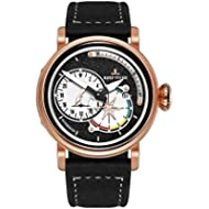[Sponsored]Reef Tiger Mens Sport Watches Rose Gold Genuine Leather Militare Watch Date RGA3019...
