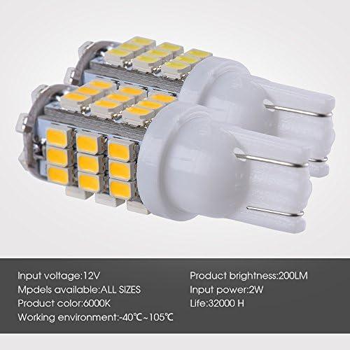 Smautop 20Packs RV Trailer T10 921 194 912 168 920 42-SMD 12V Backup Reverse LED White Bulb Lights-1 Yrs Warranty
