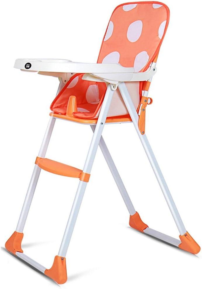 Byrhgood インストールから、欧州の多機能折り畳み式携帯子供ベビーブースターシートプラスチック製アジャスタブル免除 (Color : Orange)