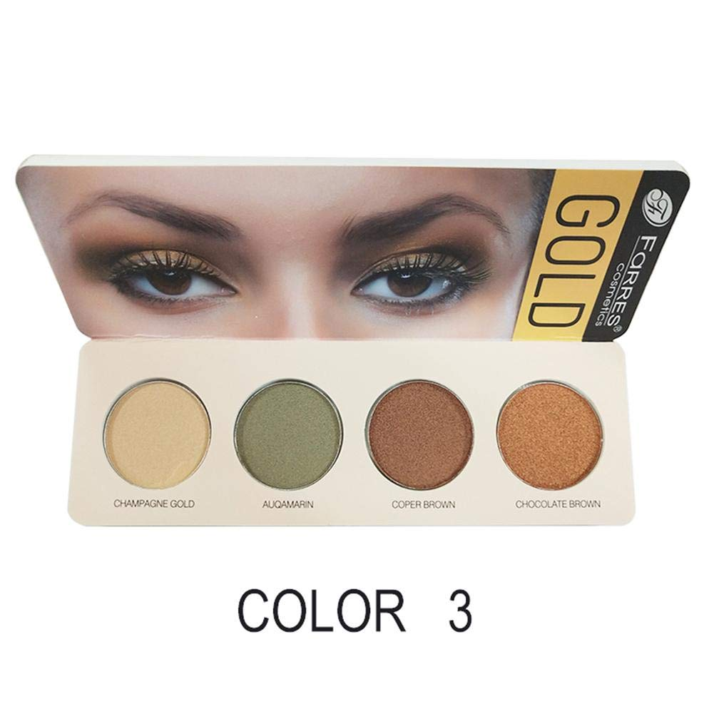 iYoung FaRRES Eyeshadow Cosmetic Palette 4-Color Eye Earth Tone Shadow per Smoky Eyes Shades Palette con 1 scatola di 4 colori Eye Shadow