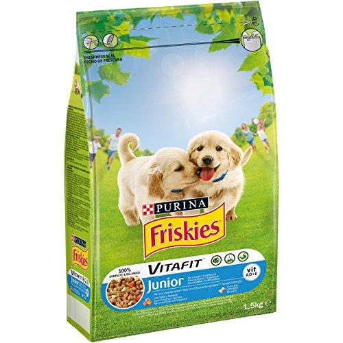 Friskies vitafit Junior pienso para el Perro, con Pollo y l Aggiunta de Leche y Verduras, 1.5 kg: Amazon.es: Productos para mascotas