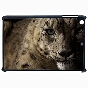 Customized Back Cover Case For iPad Air 5 Hardshell Case, Black Back Cover Design Snow Leopard Personalized Unique Case For iPad Air 5