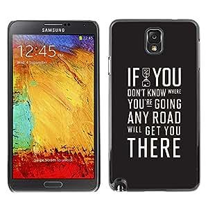 GIFT CHOICE / SmartPhone Carcasa Teléfono móvil Funda de protección Duro Caso Case para Samsung Note 3 N9000 /IF YOU DON'T KNOW - TYPOGRAPHY/