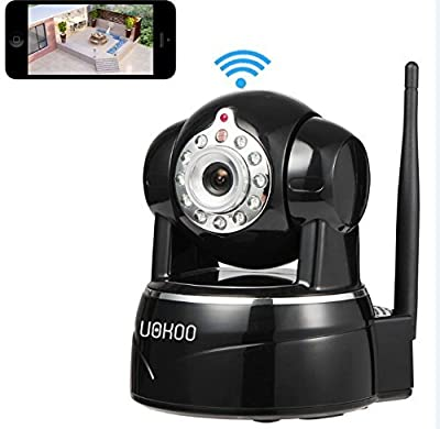 IP Camera, UOKOO 2 Megapixel Full HD 1080p Resolution WiFi Security Camera, Plug and Play, Pan/Tilt with 2-Way Audio, Night Vision, Motion Detection Wireless IP Webcam