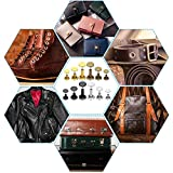 Leather Rivets Kit, Shynek 360 Sets Double Cap