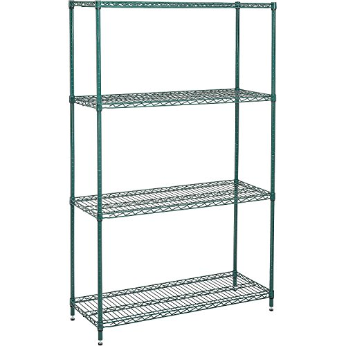 Nexel 798767 4-Shelf Wire Shelving Unit, 24