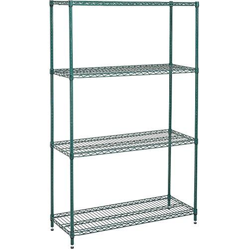 - Nexel 798765 4-Shelf Wire Shelving Unit, 18