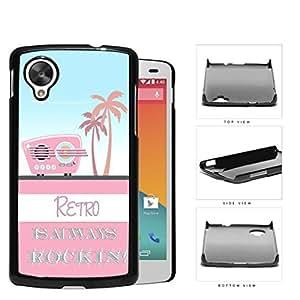 Retro Is Always Rockin Pink Radio Hard Plastic Snap On Cell Phone Case LG Nexus 5