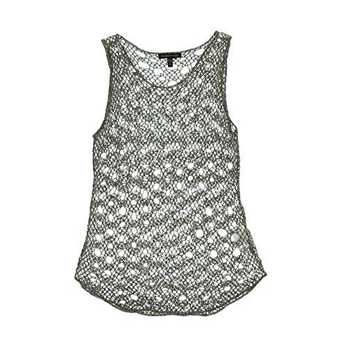 Jewel Neck Shell (Eileen Fisher Linen Blend Jewel Neck Shell Size M)