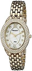 Armitron Women's 75/5254MPGP Swarovski Crystal Accented Oval Gold-Tone Bracelet Watch
