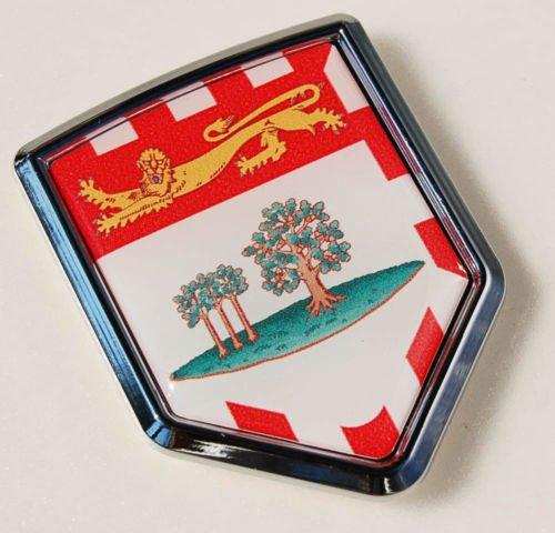 Prince Edward Island Canada Flag Chrome Emblem Decal Car Chrome Decals