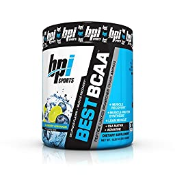 BPI Sports Best BCAA Blueberry Lemonade - Branch Chain Amino Acid Powder, Recovery and Muscle 10.58 Ounce (30 Servings) (1)