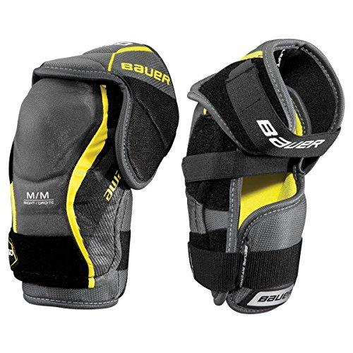 Bauer S17 Supreme S150 Senior Elbow Pad, Grey/Black, (Bauer Supreme Senior Ice)