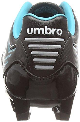Umbro Medusæ Club Hg Jnr, Botas de Fútbol para Niños Negro (Ecg-Black/White/Bluebird)
