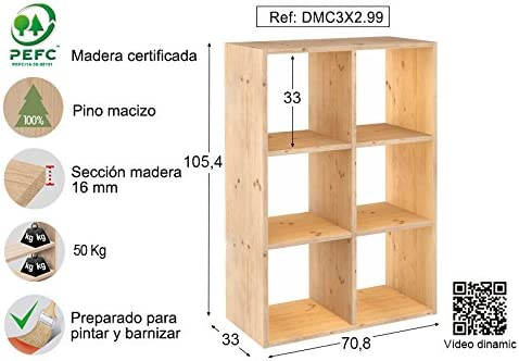 ASTIGARRAGA KIT LINE Estantería modular 3 x 2 cubos DINAMIC: Amazon.es: Bricolaje y herramientas