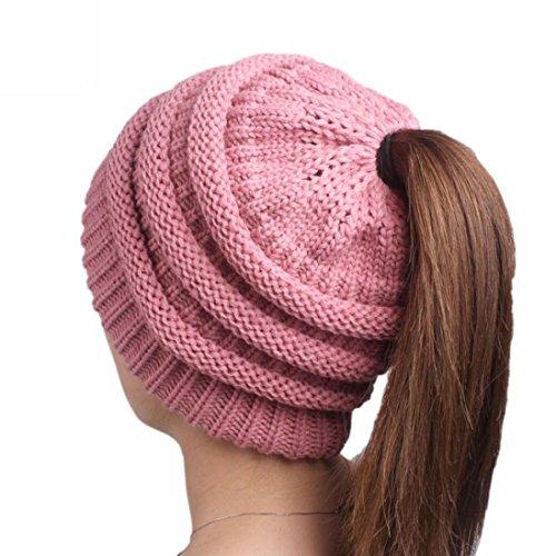 HANYI Women Winter Crochet Hat Wool Knit Beanie Warm Caps (EE) (Sun Cupcake Liners)