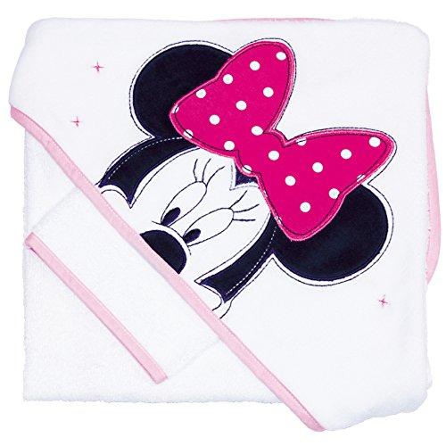 Babycalin Badtextilien-Set, Motiv: Disney Minnie Maus, 80x80cm, Rosa