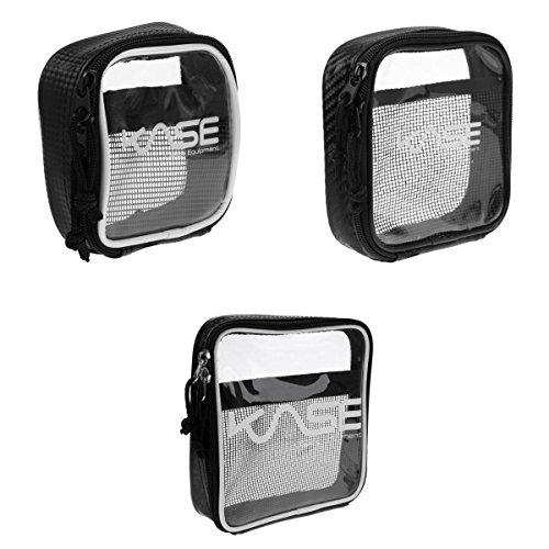MagiDeal 3x Klare Mini Aufbewahrung Beutel mit Reißverschluss, Innen Mesh Tasche