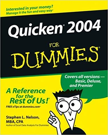 Quicken 2004 For Dummies (For Dummies (Computer/Tech)): Stephen L