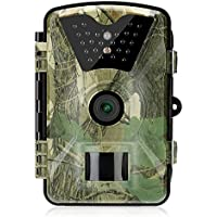Trail Camera 12MP 1080P Game Hunting Camera with IP66 Waterproof 65ft Night Vision 24pcs 940nm IR LEDs,2.4 LCD Screen 90°Wide Angle for Hunting Wildlife Monitor(ACU Camouflage)