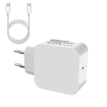 PFMY Adaptador Cargador Portátiles Ordenador Para Apple MacBook A1534, Google Pixel, Huawei Mate 9, Xiaomi 6, LG G5, Lenovo ZUK Z2 Pro, HP Spectre 13 ...