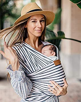 Tuck and Bundle Stripe Baby Wrap – Modern – Stylish – Lightweight – Luxuriously Soft