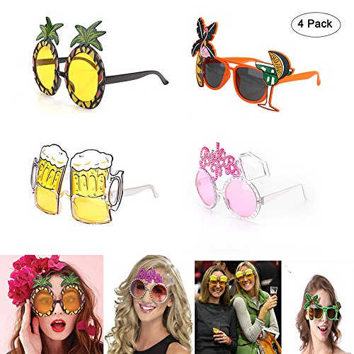 Novelty Sunglasses Flamingo Pineapple Beer Funny Glasses Photo Booth Props - Goggles Bachelorette Hen Night Stag Party Favors Carnival Festivals Chrismas Party - For Sunglasses Novelty Adults
