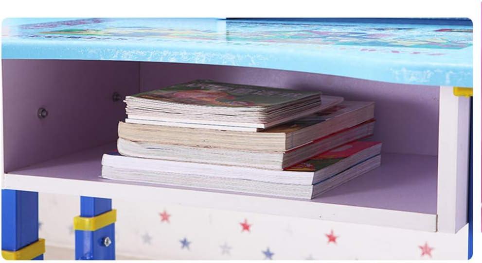 Bfengfei Mesa De Estudio Escritorio para Niños Alumnos Juego De Escritorio Y Silla Simples Escritorio para El Hogar Estantería Combinación Niño Niña (Rosa) Rosa zk3XZB