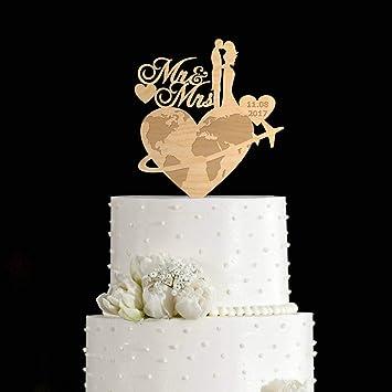 Décoration De Gâteau De Voyage De Mariage Pour Gâteau De