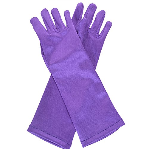Jishen Girl's Anime Party Cosplay Costume Princess Ice and Snow Magical Gloves Age 3-7 Accessories Purple