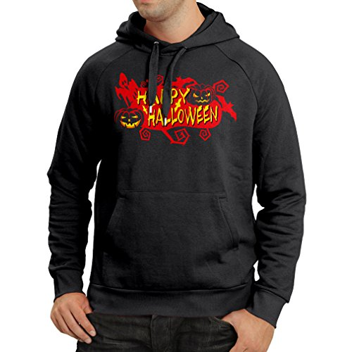 Hoodie Owls, Bats, Ghosts, Pumpkins - Halloween outfit full of Spookiness (XX-Large Black Multi Color)
