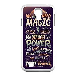 YUAHS(TM) Personalized Hard Back Cover Case for SamSung Galaxy S4 I9500 with Harry Potter quote YAS926540