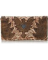 American West Eagle Heart Tri-Fold Wallet