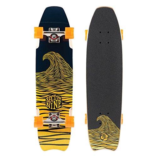 Sector 9 Shark Bite Complete Skateboard, Yellow - Shark Complete Skateboard