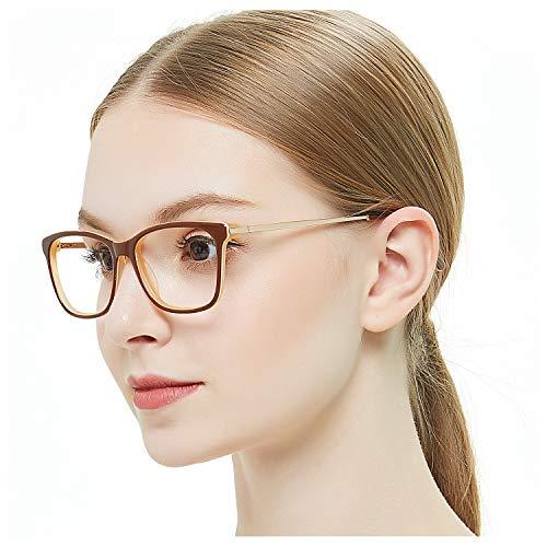 Women's Non Prescription Eyeglasses Frame Black Green Red Blue Brown Fashion Eyewear Clear Lense Glasses