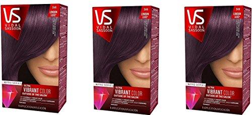 Vidal Sassoon Pro Series Hair Color 3vr Deep Velvet Violet (Pack of 3, 3vr Deep Velvet Violet) by Vidal Sassoon