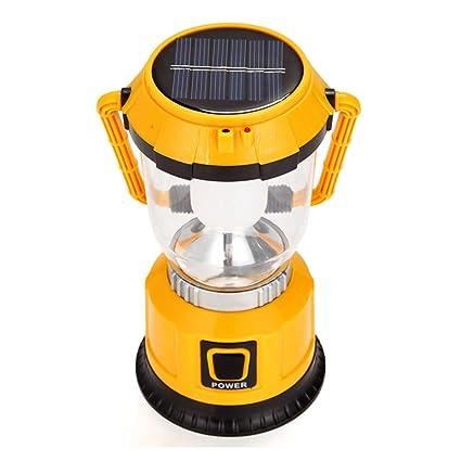 Luces De Camping Solares 3 En 1, Antorcha De 6 Focos LED, Modo 4