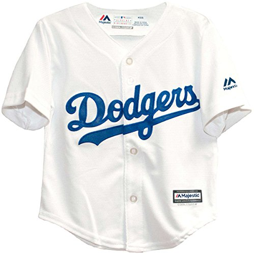 Majestic Kid's MLB Los Angeles Dodgers White Baseball Jersey (LARGE 7)