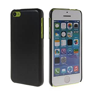 CASEPRADISE Carcasa Duro Tapa Caso Funda Case Cover Para Apple iPhone 5C Negro