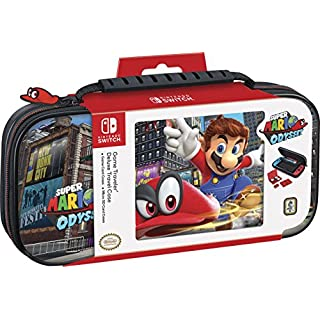 Officially Licensed Nintendo Switch Super Mario Odyssey Carrying Case – Protective Deluxe Travel Case – PU Leather Exterior