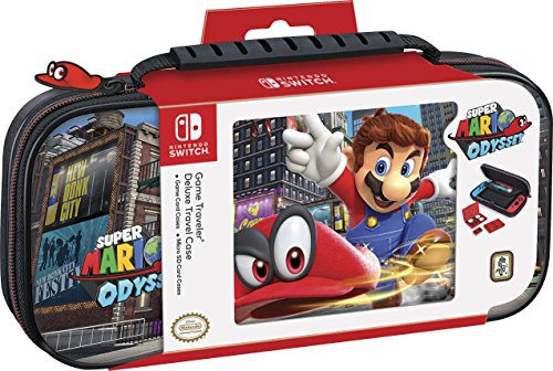 (Nintendo Switch Super Mario Odyssey Carrying Case - Protective Deluxe Travel Case - PU Leather Exterior - Official Nintendo Licensed Product)