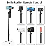 RCstyle Selfie Stick Extender Rod with Tripod Mount Aluminum Alloy Compatible for GoPro Hero/Sony 4K HDR/Nikon SLR/YI Action Camera/RICOH/OSMO+/OSMO Mobile 2 Mobile Phone Accessories