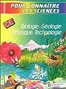 Biologie, géologie, physique, technologie CE par Blanc