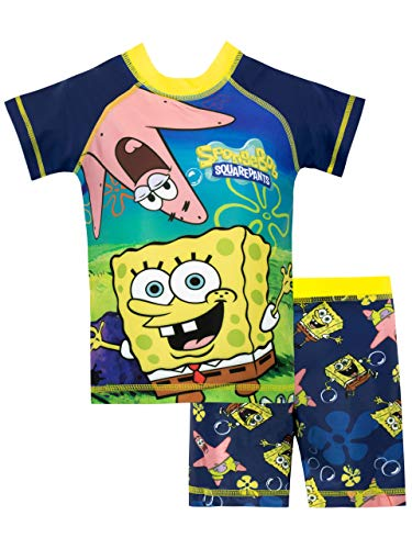 SpongeBob SquarePants Boys' Sponge bob Two Piece Swim Set Size 5 Blue -