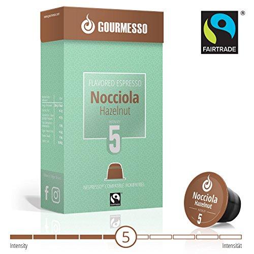 Gourmesso Soffio Nocciola (Hazelnut) - 50 Nespresso Compatible Coffee Capsules - Fair Trade