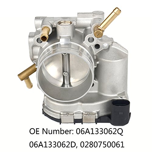 (Throttle Body Assembly Fit For 2000-2004 VW GOLF BEETLE JETTA 2.0L L4 0280750061)