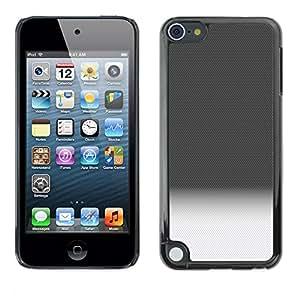 YiPhone /// Prima de resorte delgada de la cubierta del caso de Shell Armor - Gradient Black White Horizon Clean Pattern - Apple iPod Touch 5